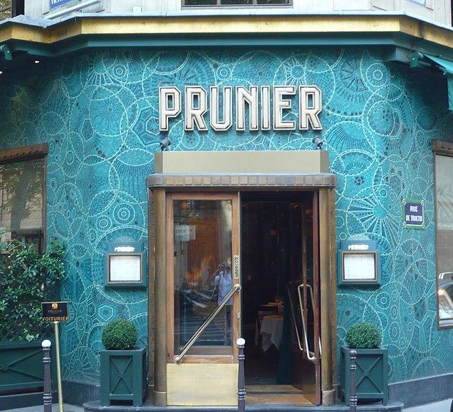 Photo du Monument Historique Restaurant Prunier situé à Paris 16e Arrondissement