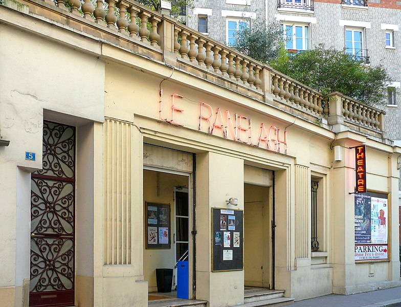 Photo du Monument Historique Ancien théâtre, actuellement cinéma Ranelagh situé à Paris 16e Arrondissement