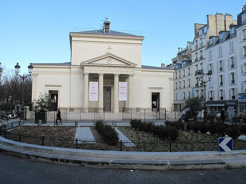 Photo du Monument Historique Eglise Sainte-Marie-des-Batignolles situé à Paris 17e Arrondissement