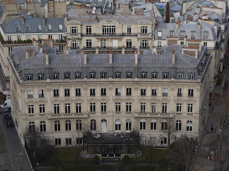Photo du Monument Historique Hôtel de Günsburg situé à Paris 17e Arrondissement