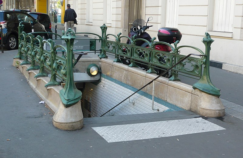 Photo du Monument Historique Métropolitain, station Villiers situé à Paris 17e Arrondissement