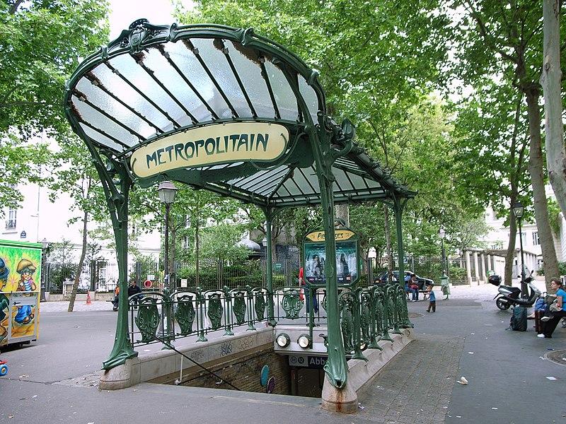 Photo du Monument Historique Métropolitain, station Abbesses situé à Paris 18e Arrondissement