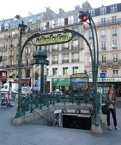 Photo du Monument Historique Métropolitain, station Place de Clichy situé à Paris 18e Arrondissement