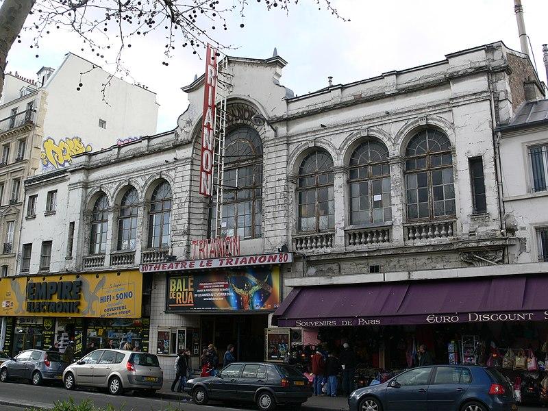 Photo du Monument Historique Ancien théâtre Victor Hugo, cinéma Trianon situé à Paris 18e Arrondissement