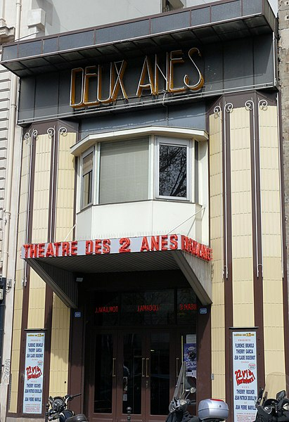 Photo du Monument Historique Théâtre des Deux Anes situé à Paris 18e Arrondissement