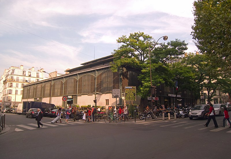 Photo du Monument Historique Marché Secrétan situé à Paris 19e Arrondissement