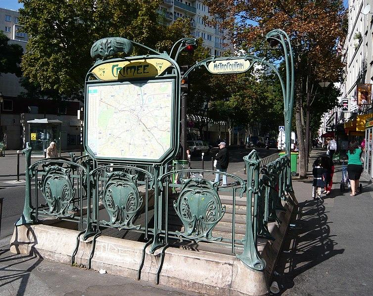 Photo du Monument Historique Métropolitain, station Crimée situé à Paris 19e Arrondissement