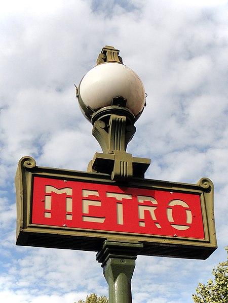 Photo du Monument Historique Métropolitain, station Jaurès situé à Paris 19e Arrondissement