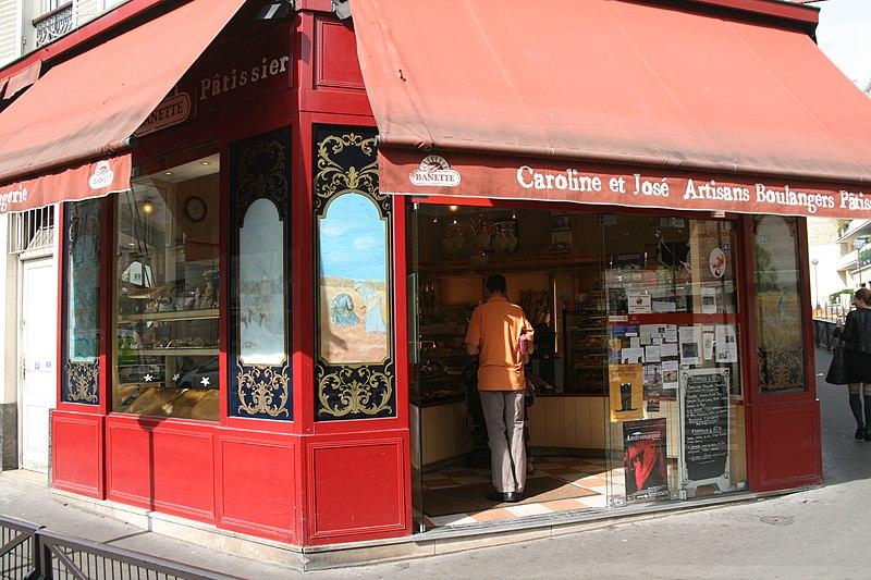 Photo du Monument Historique Boulangerie situé à Paris 20e Arrondissement
