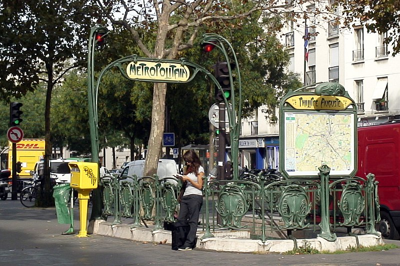Photo du Monument Historique Métropolitain, station Philippe-Auguste situé à Paris 20e Arrondissement