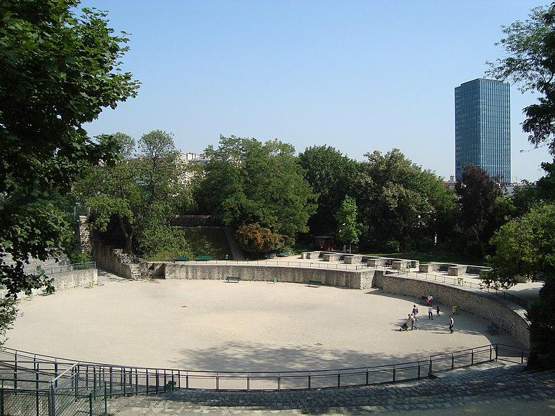Photo du Monument Historique Arènes de Lutèce situé à Paris 5e Arrondissement