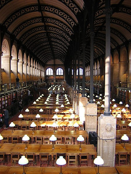 Photo du Monument Historique Bibliothèque Sainte-Geneviève situé à Paris 5e Arrondissement
