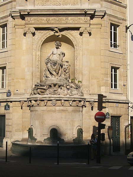 Photo du Monument Historique Fontaine Cuvier situé à Paris 5e Arrondissement