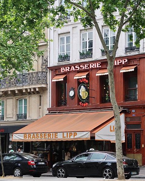 Photo du Monument Historique Brasserie Lipp situé à Paris 6e Arrondissement