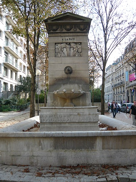 Photo du Monument Historique Fontaine du Marché-Saint-Germain situé à Paris 6e Arrondissement