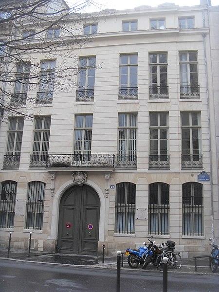 Photo du Monument Historique Hôtel d'Asfeld ou Rochambeau situé à Paris 6e Arrondissement