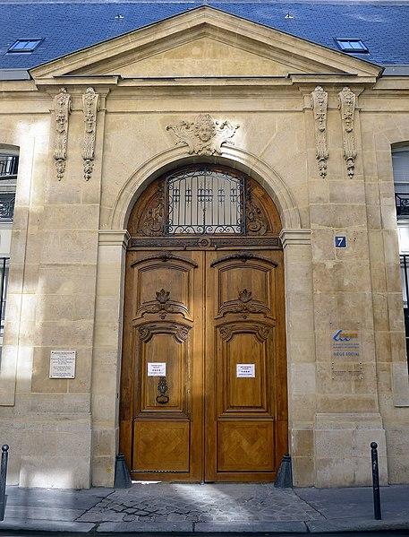 Photo du Monument Historique Hôtel de Beaune situé à Paris 6e Arrondissement