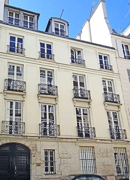 Photo du Monument Historique Hôtel Charles-Testre situé à Paris 6e Arrondissement