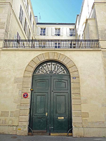 Photo du Monument Historique Hôtel de Claude-Turcat situé à Paris 6e Arrondissement
