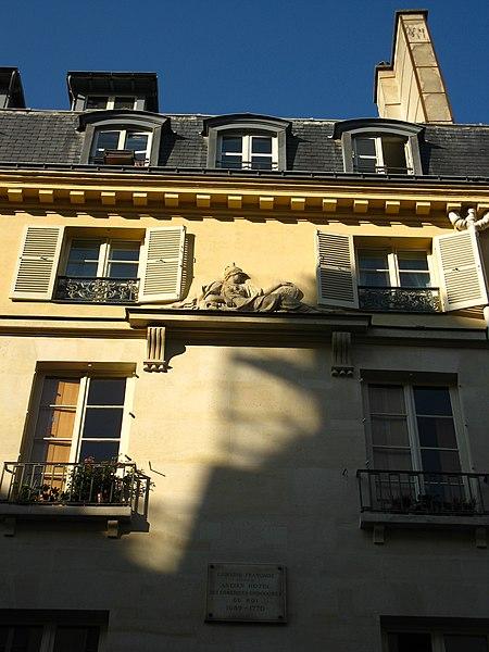 Photo du Monument Historique Hôtel des Comédiens ordinaires du roi situé à Paris 6e Arrondissement
