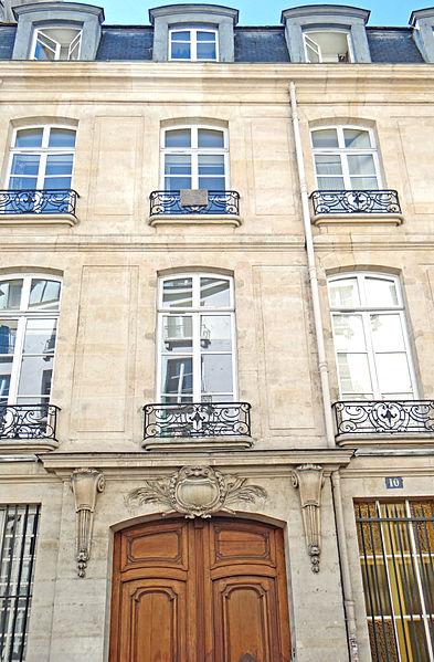 Photo du Monument Historique Hôtel Machelet de Velye situé à Paris 6e Arrondissement