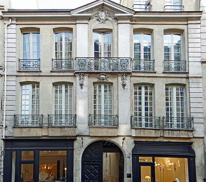 Photo du Monument Historique Hôtel de Mouy situé à Paris 6e Arrondissement