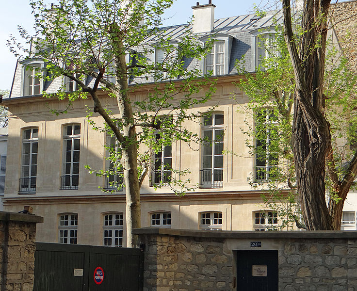 Photo du Monument Historique Maison ou ancien hôtel d'Hinnisdal situé à Paris 6e Arrondissement