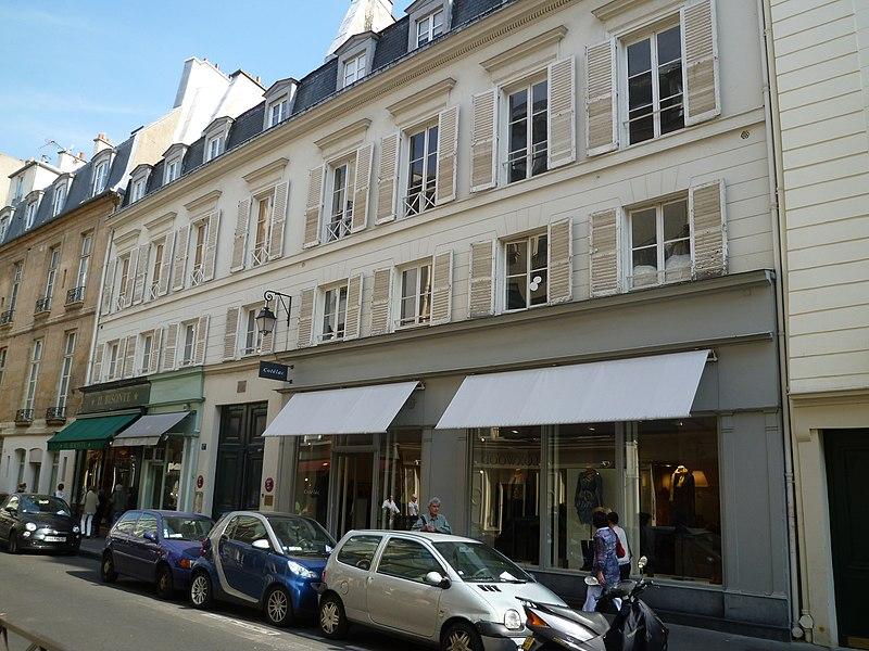 Photo du Monument Historique Immeuble ou ancien hôtel de Saint-Simon, de Mecklenbourg ou de Chamilly situé à Paris 6e Arrondissement