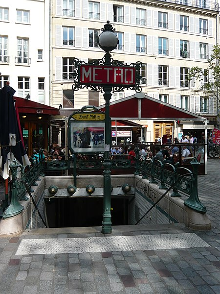 Photo du Monument Historique Métropolitain, station Saint-Michel situé à Paris 6e Arrondissement