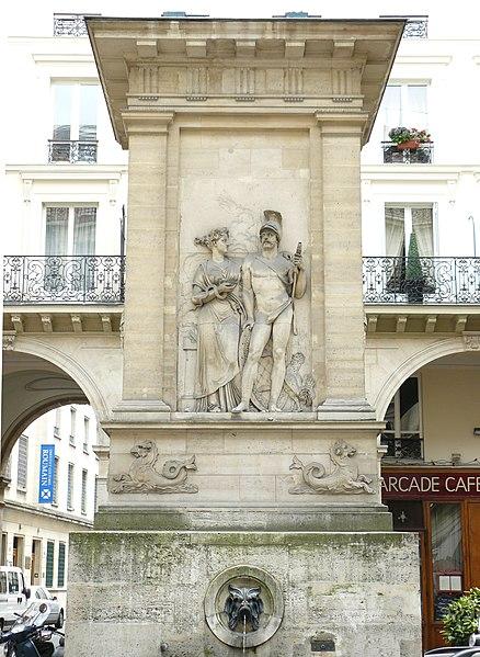 Photo du Monument Historique Fontaine du Gros-Caillou situé à Paris 7e Arrondissement
