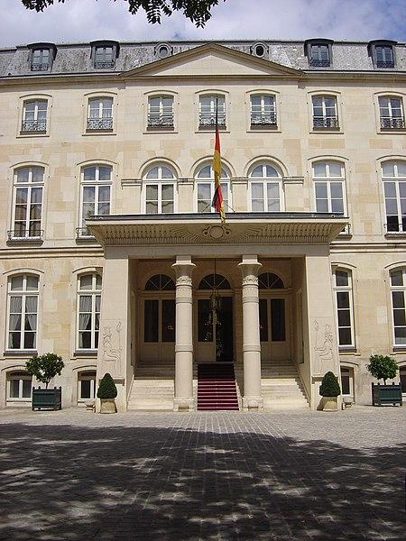Photo du Monument Historique Hôtel de Beauharnais, actuellement résidence de l'ambassadeur d'Allemagne situé à Paris 7e Arrondissement