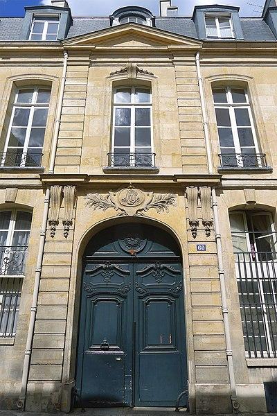 Photo du Monument Historique Hôtel Duprat situé à Paris 7e Arrondissement