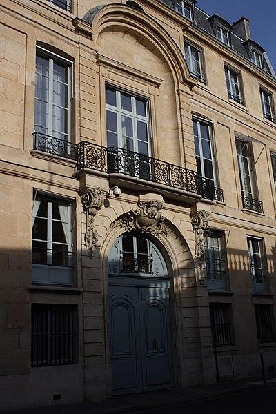 Photo du Monument Historique Hôtel de Montalivet situé à Paris 7e Arrondissement
