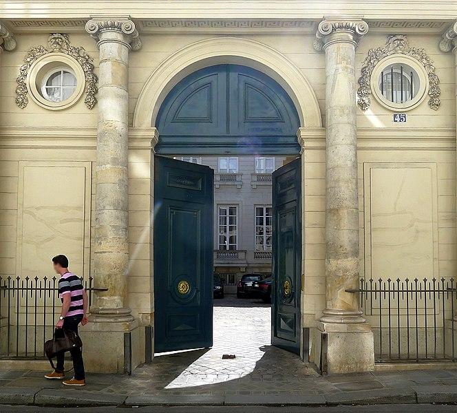 Photo du Monument Historique Hôtel de Narbonne situé à Paris 7e Arrondissement