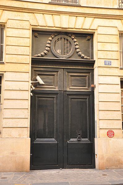 Photo du Monument Historique Hôtel de Sommery situé à Paris 7e Arrondissement