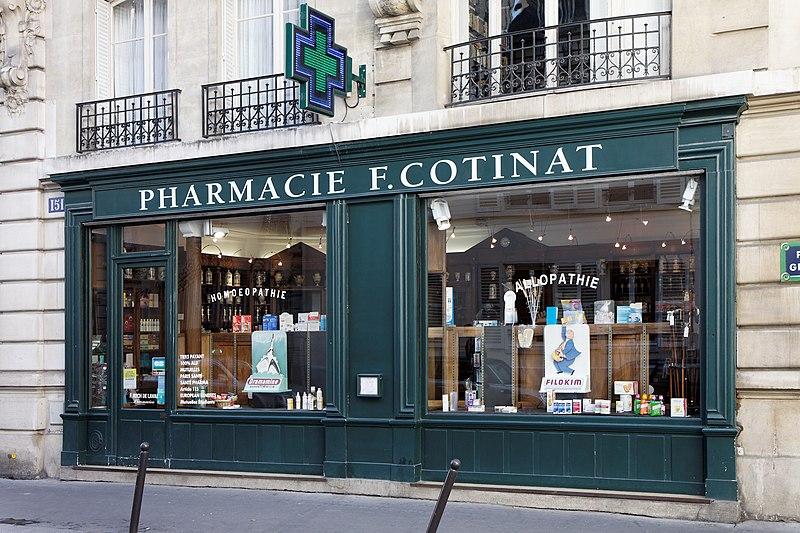 Photo du Monument Historique Pharmacie situé à Paris 7e Arrondissement