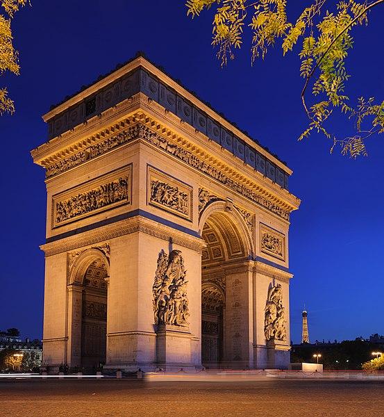 Photo du Monument Historique Arc de Triomphe de l'Etoile situé à Paris 8e Arrondissement