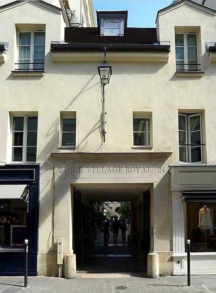 Photo du Monument Historique Cité Berryer situé à Paris 8e Arrondissement