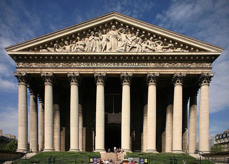 Photo du Monument Historique Eglise de la Madeleine situé à Paris 8e Arrondissement
