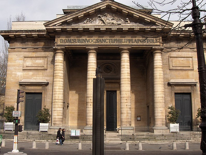Photo du Monument Historique Eglise Saint-Philippe-du-Roule situé à Paris 8e Arrondissement