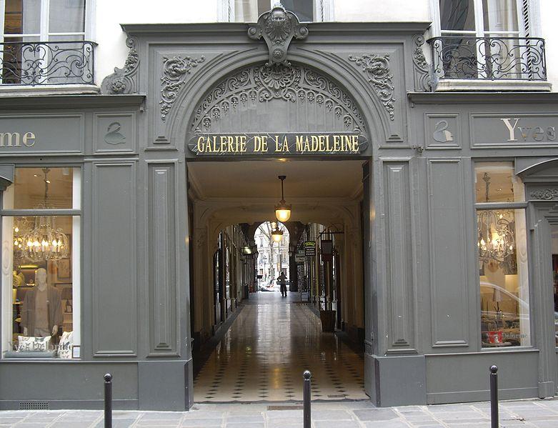 Photo du Monument Historique Galerie de la Madeleine (1 à 7) situé à Paris 8e Arrondissement