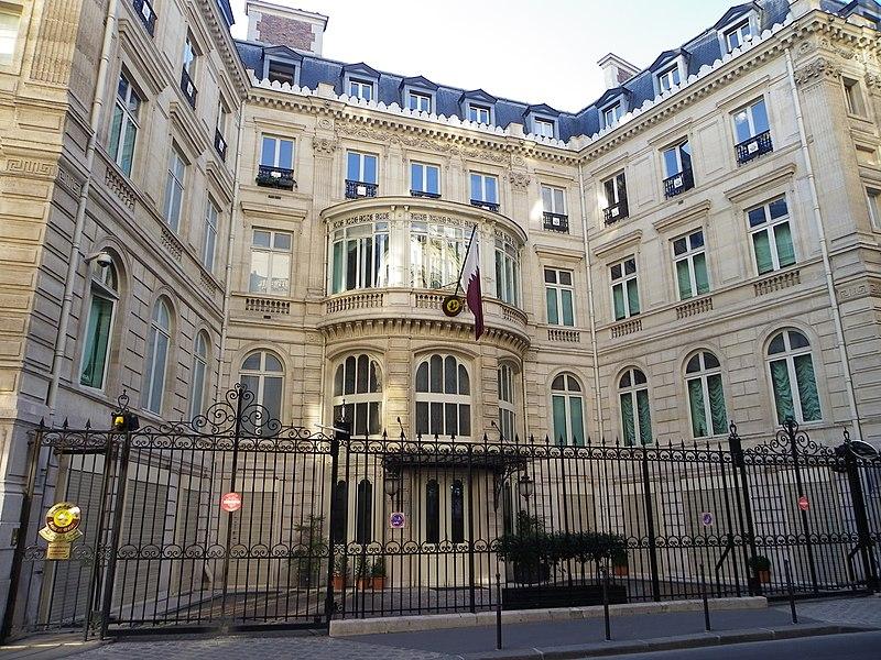 Photo du Monument Historique Hôtel Landolfo-Carcano, actuellement ambassade du Qatar situé à Paris 8e Arrondissement