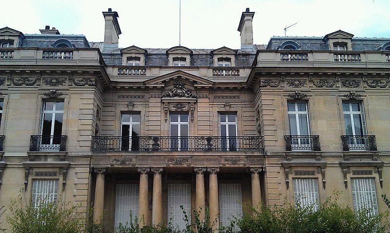 Photo du Monument Historique Ancien hôtel Salomon de Rothschild ou de Beaujon, actuellement fondation nationale des arts graphiques et plastiques situé à Paris 8e Arrondissement