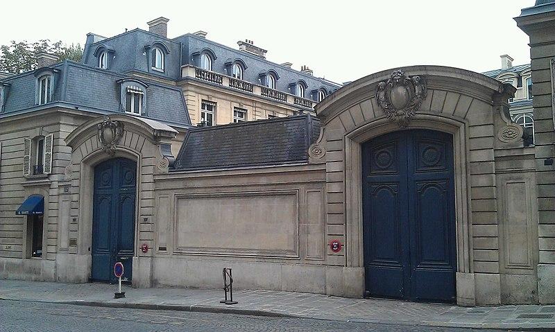 Photo du Monument Historique Hôtel Schneider situé à Paris 8e Arrondissement