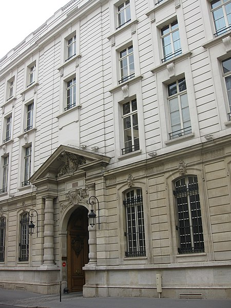Photo du Monument Historique Immeuble, actuellement Cercle Interallié situé à Paris 8e Arrondissement
