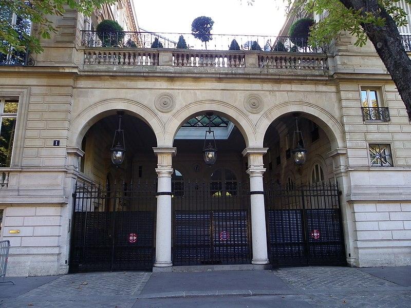 Photo du Monument Historique Immeuble ou hôtel Talhouet situé à Paris 8e Arrondissement