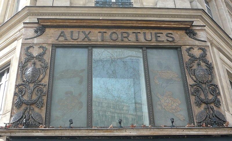 Photo du Monument Historique Magasin Aux Tortues situé à Paris 8e Arrondissement