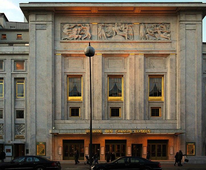 Photo du Monument Historique Théâtre des Champs-Elysées situé à Paris 8e Arrondissement