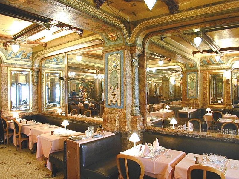 Photo du Monument Historique Brasserie Mollard situé à Paris 8e Arrondissement