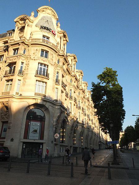 Photo du Monument Historique Immeuble, actuellement immeuble du Crédit Commercial de France situé à Paris 8e Arrondissement